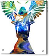 Healing Angel - Spiritual Art Painting Acrylic Print by Sharon Cummings