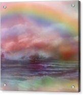 Healing Ocean Acrylic Print by Carol Cavalaris