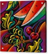 Healthy Fruit Acrylic Print by Leon Zernitsky