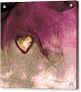 Heart Of Gold Acrylic Print by Linda Sannuti