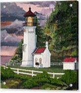 Heceta Head Lighthouse Acrylic Print by James Lyman