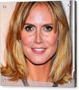 Heidi Klum At Arrivals For Reaching Out Acrylic Print by Everett