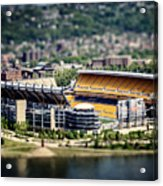 Heinz Field Pittsburgh Steelers Acrylic Print by Lisa Russo