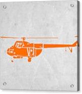 Helicopter Acrylic Print by Naxart Studio