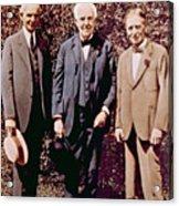 Henry Ford, Thomas Alva Edison, Harvey Acrylic Print by Everett
