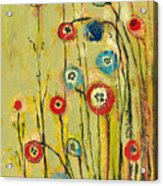 Hidden Poppies Acrylic Print by Jennifer Lommers