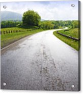 Highland Scenic Highway Route 150 Acrylic Print by Thomas R Fletcher