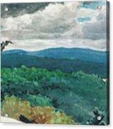 Hilly Landscape Acrylic Print by Winslow Homer