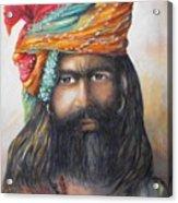 Hindu Holy Man Acrylic Print by Debra  Bannister