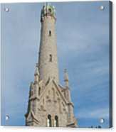 Historic Milwaukee Water Tower Acrylic Print by Ann Horn
