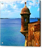 Historic San Juan Fort Acrylic Print by Perry Webster