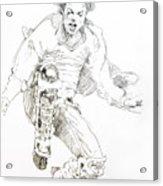 History Concert - Michael Jackson Acrylic Print by David Lloyd Glover