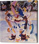 Hockey Game Acrylic Print by Ken Yackel
