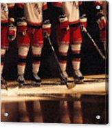 Hockey Reflection Acrylic Print by Karol Livote