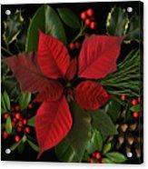 Holiday Greenery Acrylic Print by Deborah J Humphries