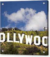 Hollywood Sign Acrylic Print by Anthony Citro