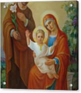 Holy Family With The Vine Tree Acrylic Print by Svitozar Nenyuk