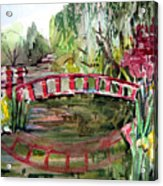 Homage To Monet Acrylic Print by Mindy Newman