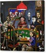 Horror Card Game Acrylic Print by Tom Carlton