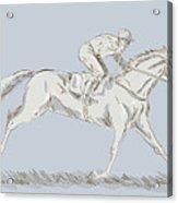 Horse And Jockey Acrylic Print by Aloysius Patrimonio