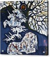 Horse Dreaming Below Trees Acrylic Print by Carol  Law Conklin