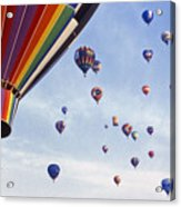 Hot Air Balloon - 12 Acrylic Print by Randy Muir
