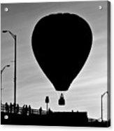 Hot Air Balloon Bridge Crossing Acrylic Print by Bob Orsillo