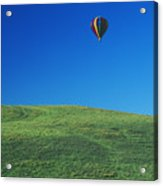 Hot Air Balloon In Hawaii Acrylic Print by Peter French - Printscapes
