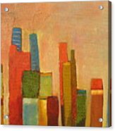Hot Manhattan Acrylic Print by Habib Ayat