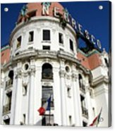 Hotel Negresco In Nice Acrylic Print by Carla Parris