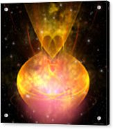 Hourglass Nebula Acrylic Print by Corey Ford