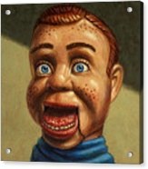 Howdy Doody Dodged A Bullet Acrylic Print by James W Johnson