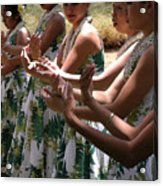 Hula Hands Acrylic Print by James Temple