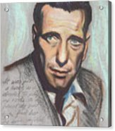 Humphrey Bogart  Not A Chess Piece Was Out Of Place Acrylic Print by Kean Butterfield