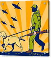 Hunting Gun Dog Acrylic Print by Aloysius Patrimonio