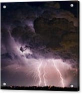 Hwy 52 - Hwy 287 Lightning Storm Image 29 Acrylic Print by James BO  Insogna