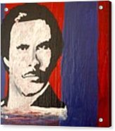 I Am Ron Burgundy Acrylic Print by April Harker