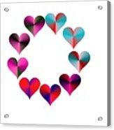 I Heart Rainbows Acrylic Print by Michael Skinner