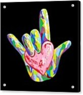 I Heart You Acrylic Print by Eloise Schneider