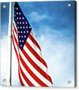 I Pledge Allegiance Acrylic Print by Shelby  Young