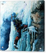 Ice Climb Acrylic Print by Hanne Lore Koehler