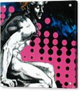 Ignudo Acrylic Print by Jean Pierre Rousselet