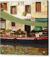 il mercato galleggiante a Venezia Acrylic Print by Guido Borelli