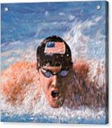 Il Nuotatore Acrylic Print by Guido Borelli