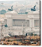 Il Vittoriano Acrylic Print by Andy Smy