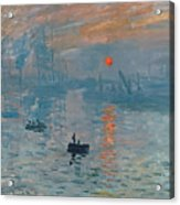 Impression Sunrise Acrylic Print by Claude Monet