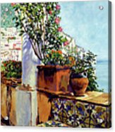 Impressions Of The Riviera Acrylic Print by David Lloyd Glover