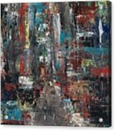 In The City Acrylic Print by Frances Marino