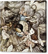 In The Duchesss Kitchen Acrylic Print by Arthur Rackham