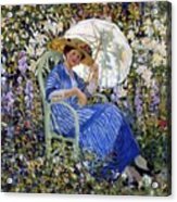 In The Garden Acrylic Print by Frederick Carl Frieseke